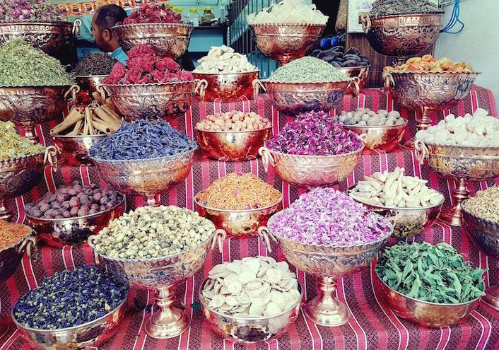 Gewürze am Bazar in Shiraz