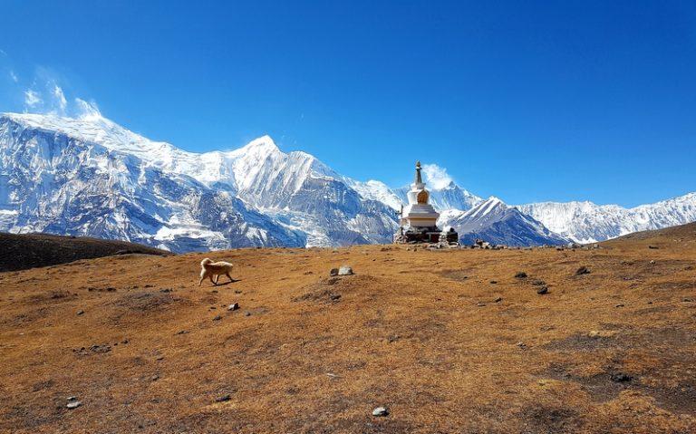 Blick auf den Annapurna II, aufgenommen vom Ice Lake