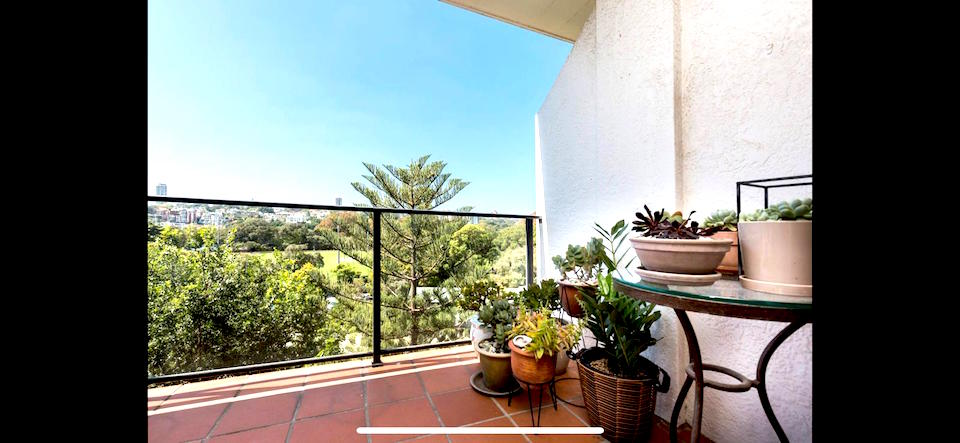 Balkon im chicen Apartment von Sydney
