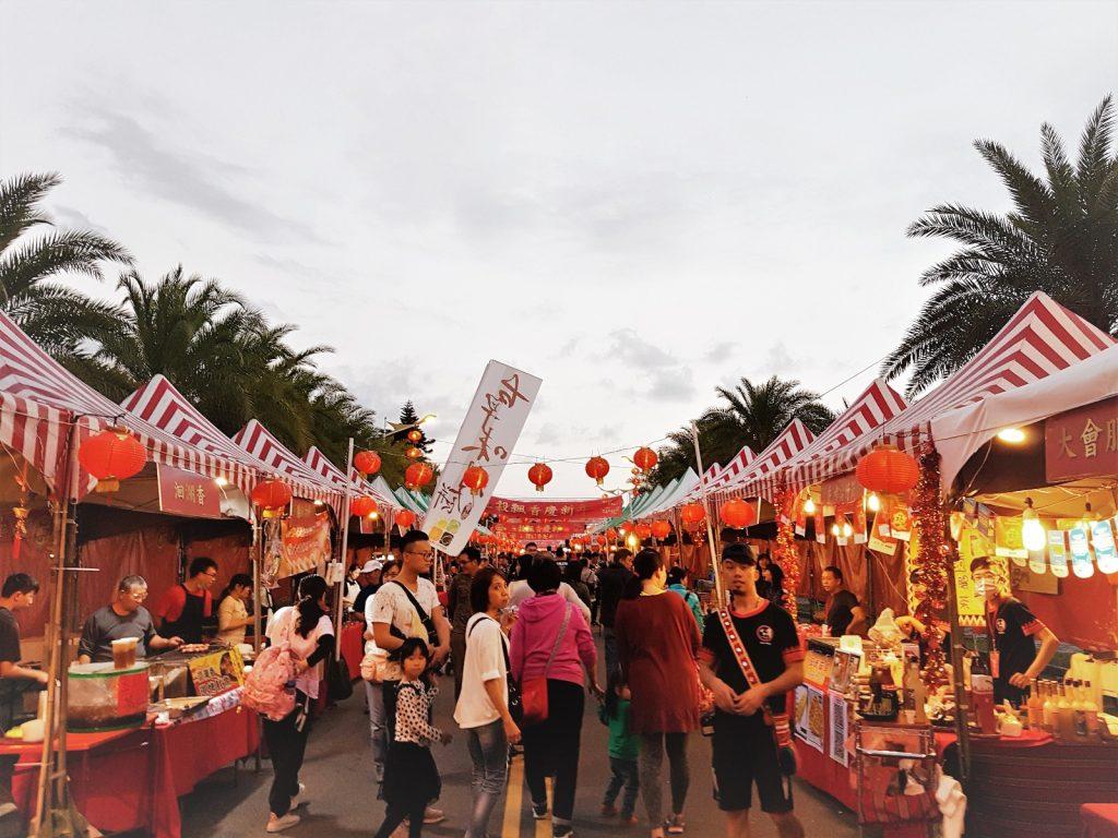 Buntes Markttreiben für Chinese New Year in Hualien