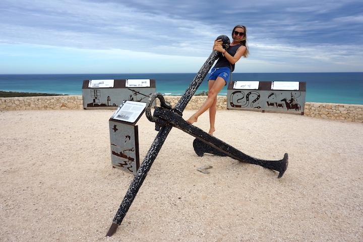 Julia und ihr Anker am Ningaloo Reef