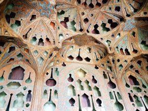 Wanddekoration im Ali Qapu Palast