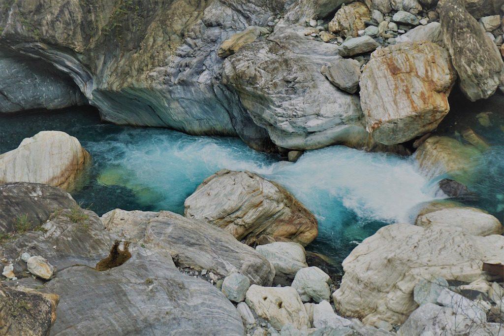 Blau, blauer, Wasser im Taroko National Park
