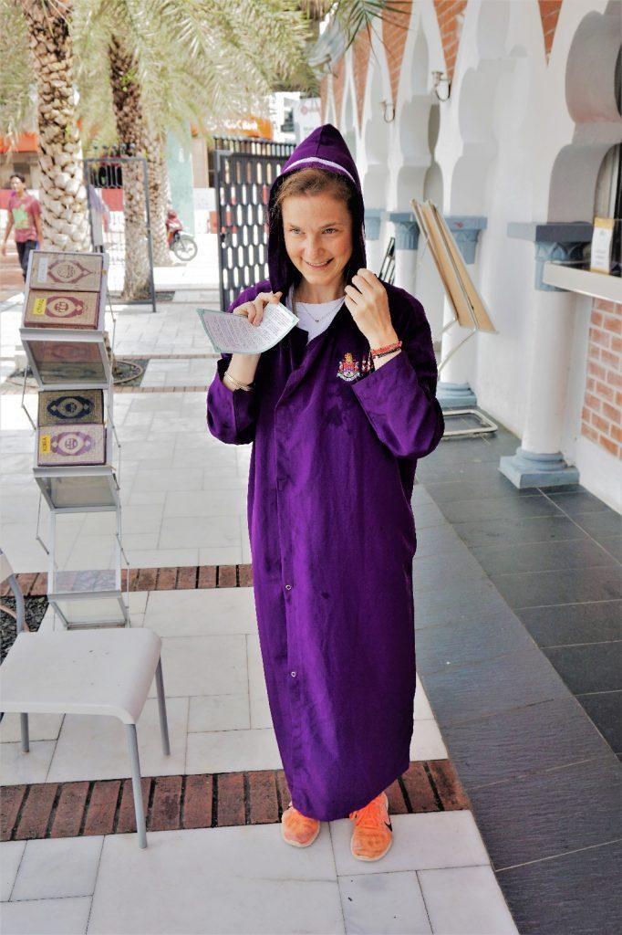 Outfit für den Besuch der Masjid Jamek Moschee
