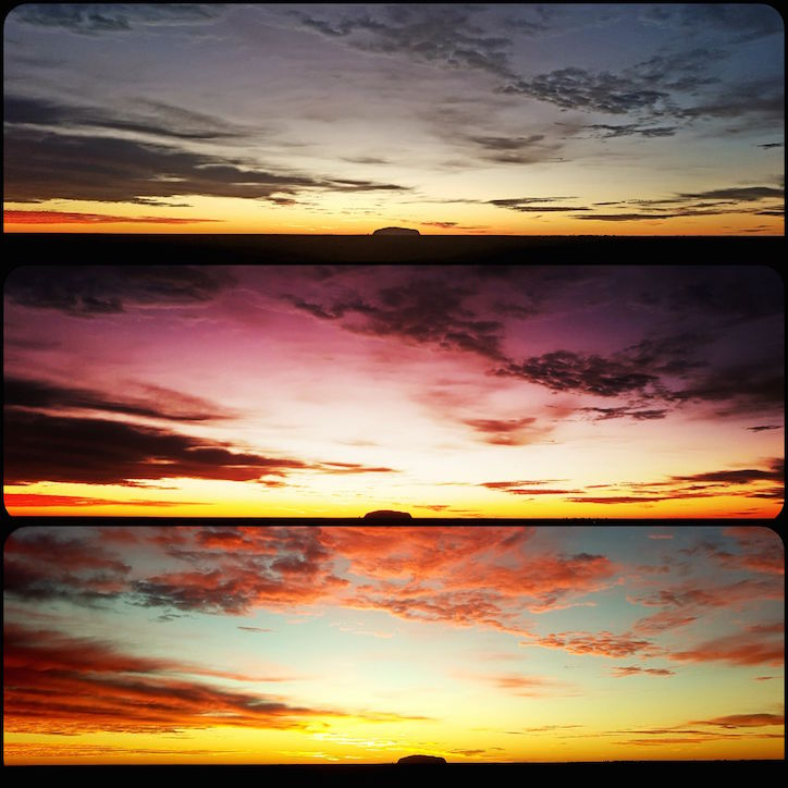 Dreierlei Himmelsspektakel über dem Uluru