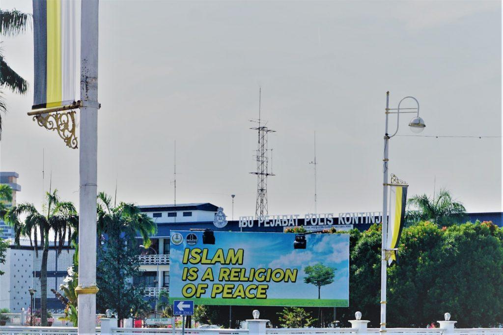 """Plakat """"Islam ist eine Religion des Friedens"""""""