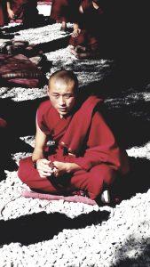 Porträt eines jungen tibetischen Mönchs