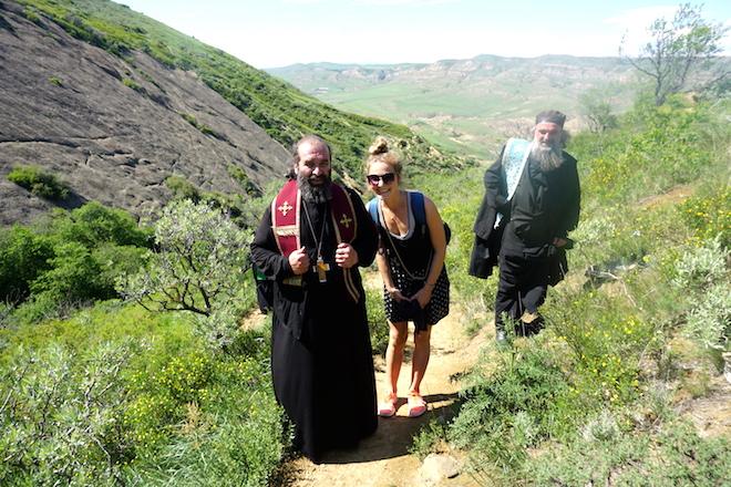 Begegnung mit orthodoxen Pilgern