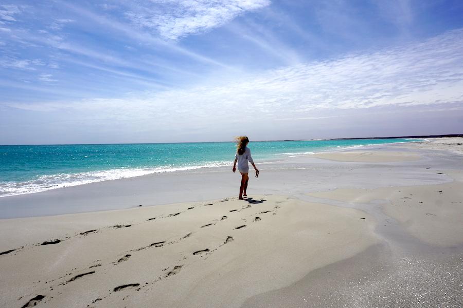 Strandspaziergang bei Coral Bay
