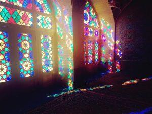 Pink Moschee im Morgenlicht in Shiraz