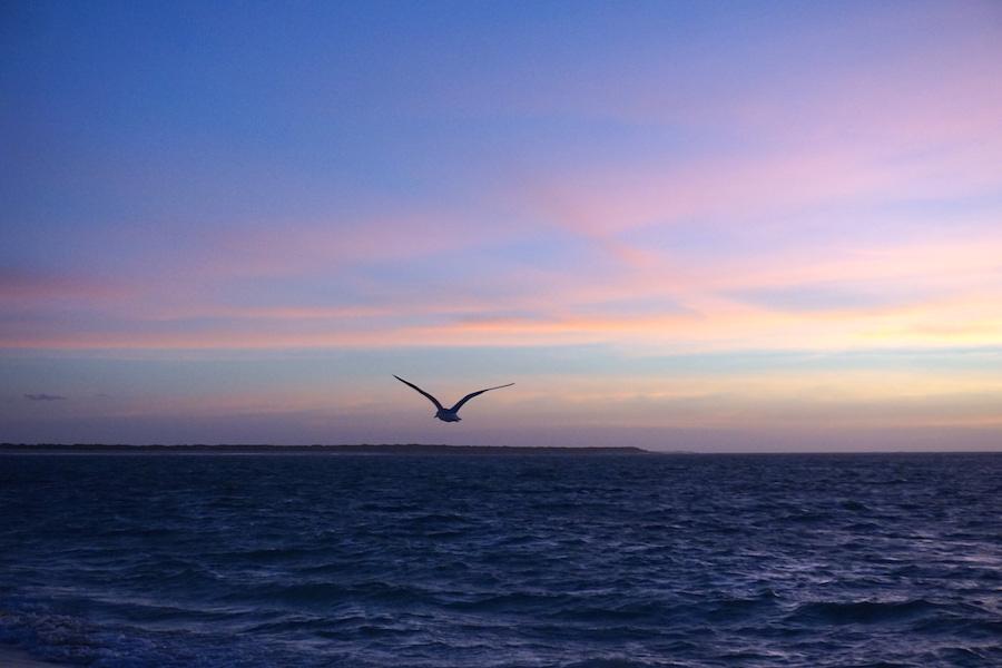 Sonnenuntergang mit spektakulären Himmelsfarben