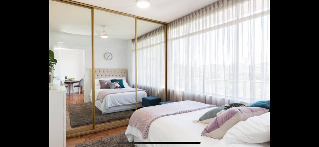 Schlafzimmer im stylishen Apartment in Sydney