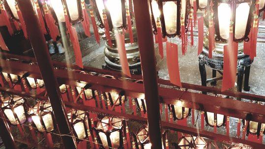 Schmuck aus einem traditionellen chinesischen Tempel
