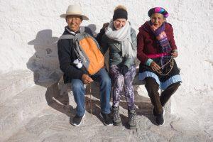 Bekanntschaft mit tibetischem Ehepaar im Potala Palast