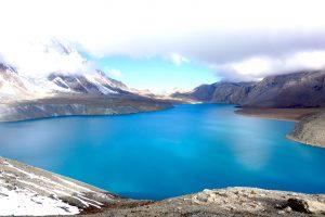Blick auf den Tilicho Lake auf 5000m
