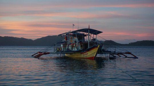 Abendstimmung mit Boot Nerissa