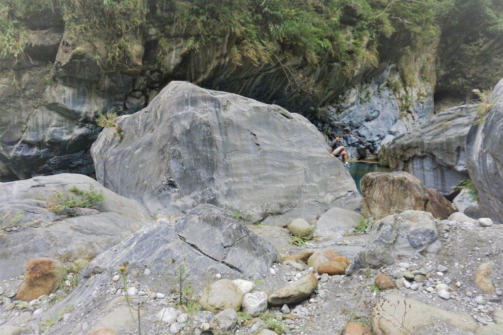 Steinformationen im Taroko National Park, Taiwan