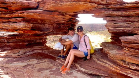 "Blick durch ""The window"" im Kalbarri Nationalpark"