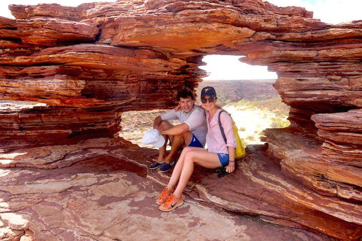 "Blick durch ""The window"" im Kalbarri Nationalpark"
