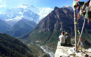 Blick von Ghermu auf den Annapurna II