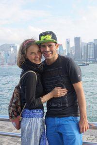 Blick auf Hongkong Island von Kowloon